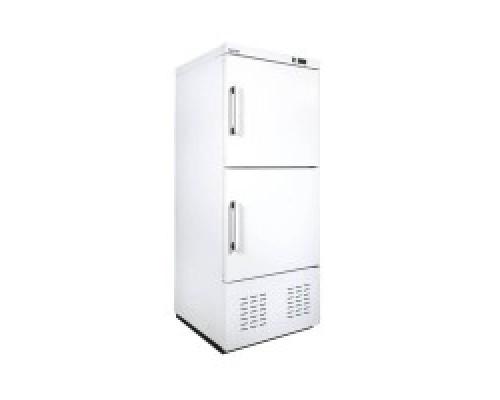 Комбинированный холодильный шкаф Марихолодмаш ШХК-400М, 2 глух. двери, статика