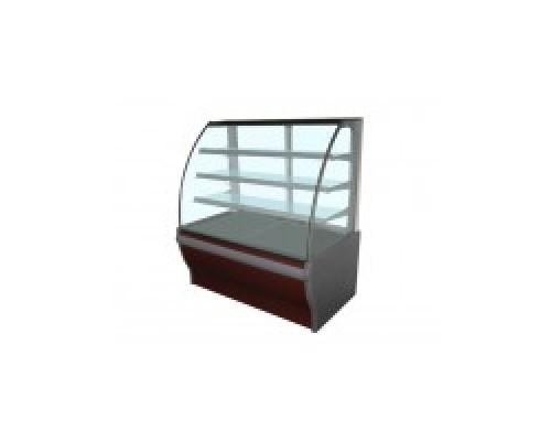 Кондитерская холодильная витрина Enteco Master ВИЛИЯ PREMIUM 125 ВВ RAL 3003