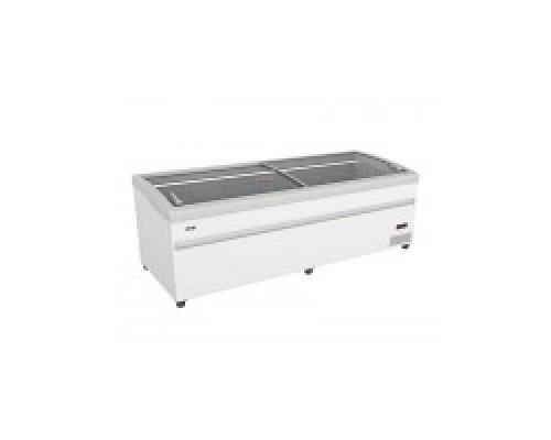 Ларь-бонета LEVIN ARTICA 200 НТ/СТ с оттайкой горячим газом, серый бампер