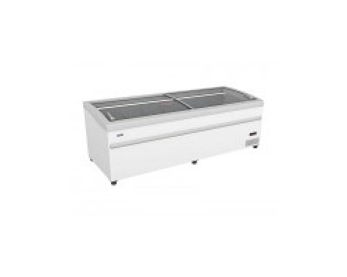 Ларь-бонета LEVIN ARTICA 250 НТ/СТ с оттайкой горячим газом, серый бампер