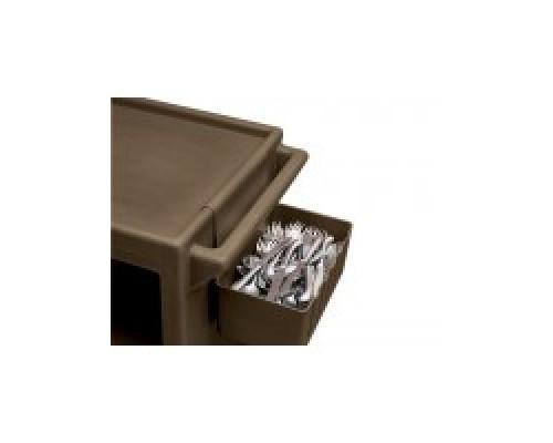 Пластиковая тележка и шпилька  Cambro Держатель для столовых приборов BC1115SH 110. Цвет: черный.
