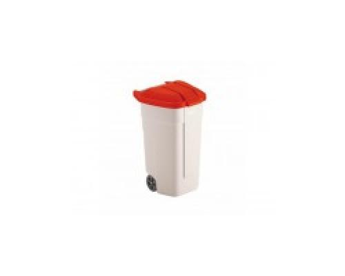 Бак для отходов Rubbermaid R002218 в комплекте с красной крышкой R039246