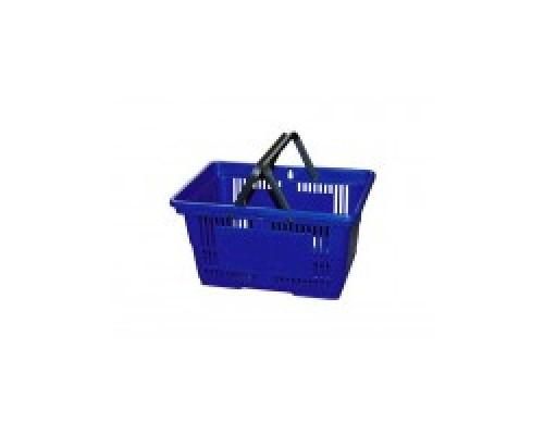 Покупательская пластиковая корзина VKF Renzel GmbH 20 л, 2 ручка, синяя