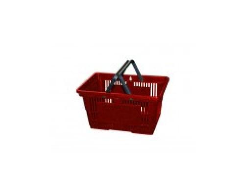 Покупательская пластиковая корзина VKF Renzel GmbH 20 л, 2 ручки, красная