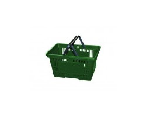 Покупательская пластиковая корзина VKF Renzel GmbH 20 л, 2 ручки, зеленая