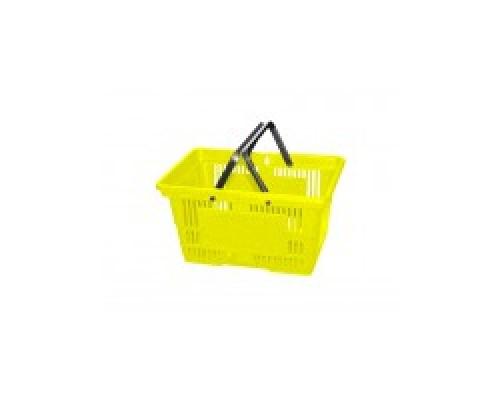 Покупательская пластиковая корзина VKF Renzel GmbH 20 л, 2 ручки, желтая