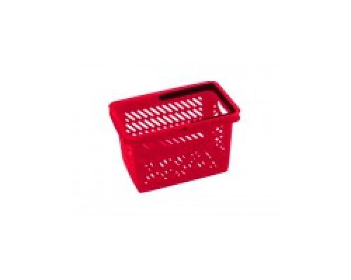 Покупательская пластиковая корзина VKF Renzel GmbH 20л, 1 ручка, красная