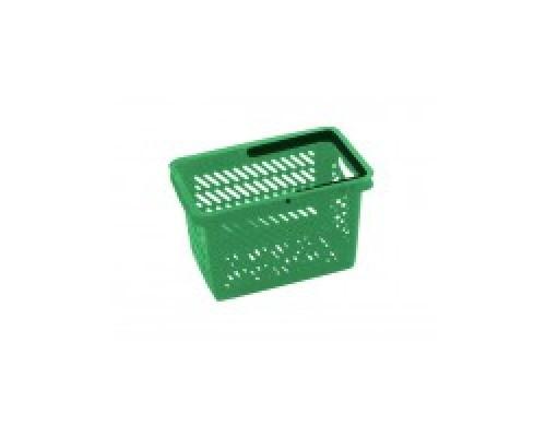 Покупательская пластиковая корзина VKF Renzel GmbH 20л, 1 ручка, зеленая
