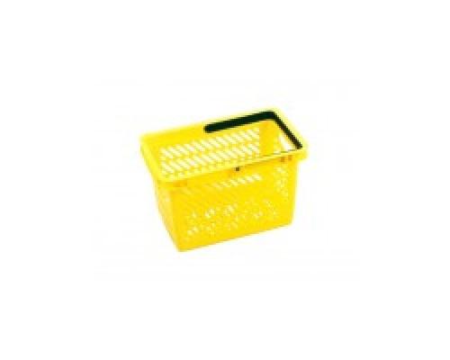 Покупательская пластиковая корзина VKF Renzel GmbH 20л, 1 ручка, желтая