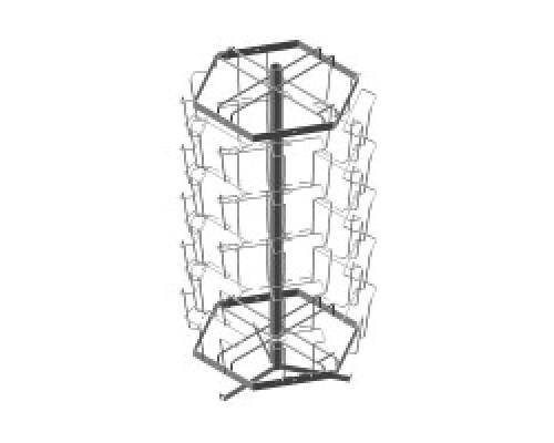 Стойка/стенд/сетка из металлической сетки Гефест Буклетница настольная вращающаяся 30 ячеек А5