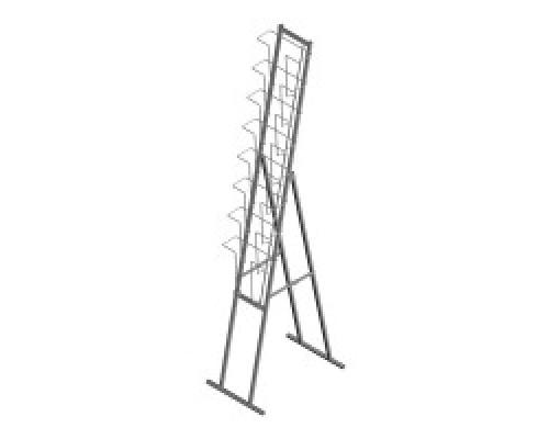 Стойка/стенд/сетка из металлической сетки Гефест Буклетница складная с дисплеем 8 ячеек А4 вертикальная
