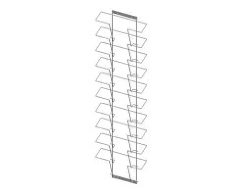 Стойка/стенд/сетка из металлической сетки Гефест Дисплей 10 ячеек А4 горизонтальный