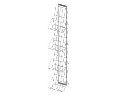 Стойка/стенд/сетка из металлической сетки Гефест Дисплей 4 полки А4