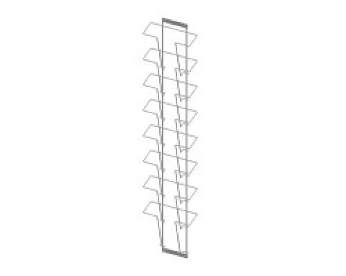 Стойка/стенд/сетка из металлической сетки Гефест Дисплей 8 ячеек А4 вертикальный