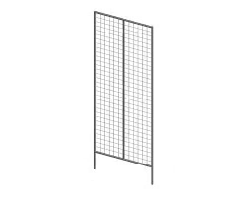 Стойка/стенд/сетка из металлической сетки Гефест Модуль двойной 1830х645