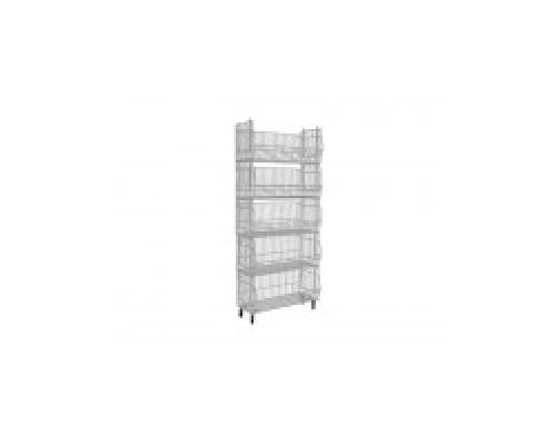 Торговый сетчатый стеллаж Юнитрейд разборная пятиярусная  960х440х1775 мм